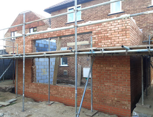 picture of house extensions build by professional bricklayers in carshalton