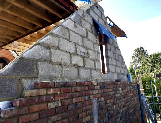 picture of new house build by bricklaying contractor in surbiton