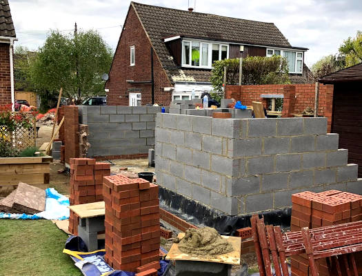picture of summer house bricklaying service by ka brickwork