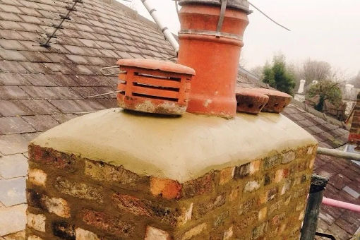picture of chimney stack rebuild by ka brickwork